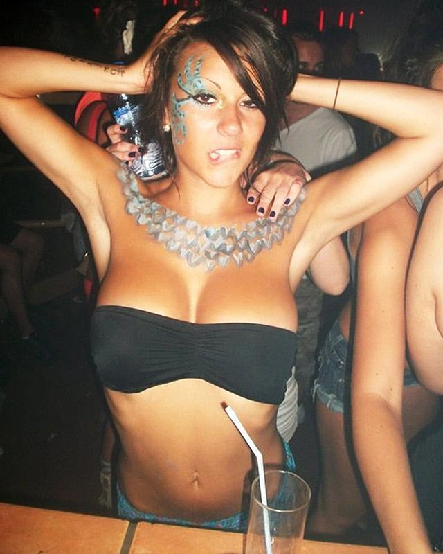 Party girl selfie